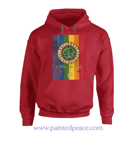 Together We Stand Heartful Peace-Hoodie Hoodie / Red Small T-Shirt