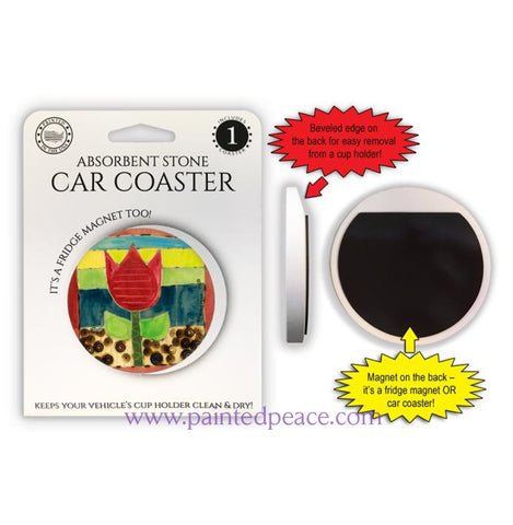 Tulip Car Coaster / Magnet