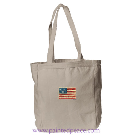 United We Stand Heartful Peace Book Tote One Size / Natural Book Tote