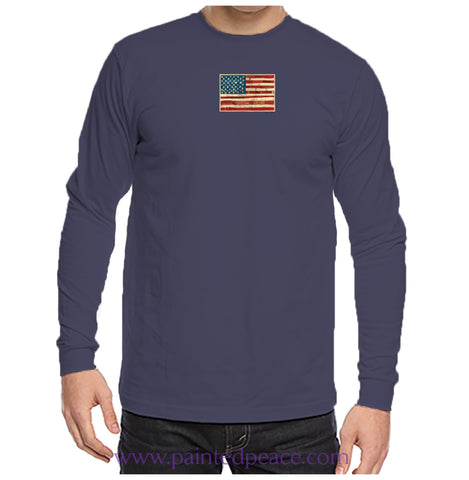 United We Stand Heartful Peace-Shirt Unisex Long Sleeve Navy Blue / Small Longsleeve