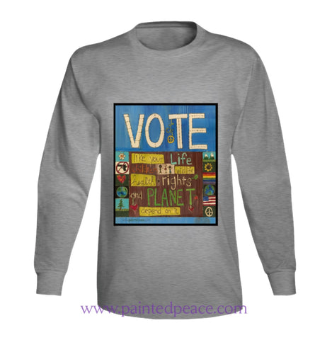 Vote Long Sleeve / Sport Grey Small T-Shirt