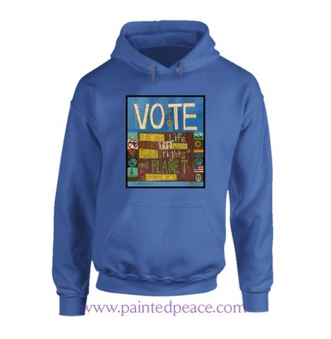 Vote Heartful Peace-Hoodie Hoodie / Royal Blue Small T-Shirt