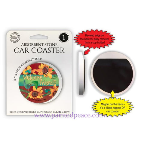Welcome Friends Car Coaster / Magnet