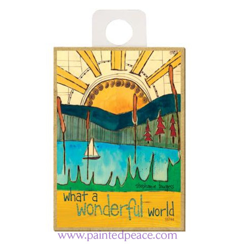 What A Wonderful Life Wood Magnet - New