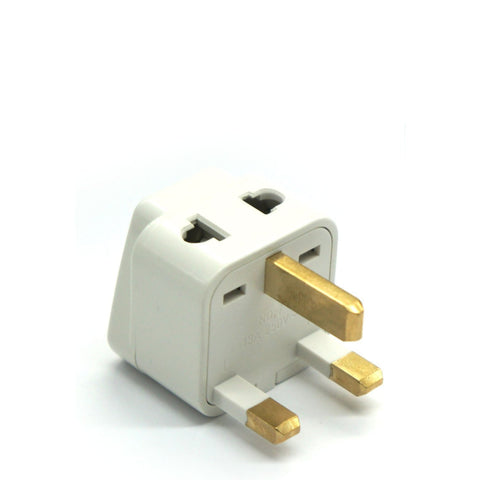 UK, Hong Kong, Singapore, UAE - Type G 2 in 1 - Travel Plug Adapter