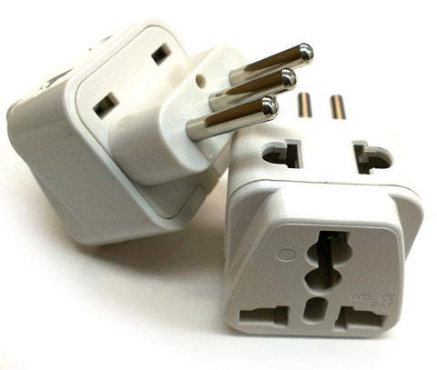 Italy, Chile, Uruguay - Type L 2 in 1 - Travel Plug Adapter