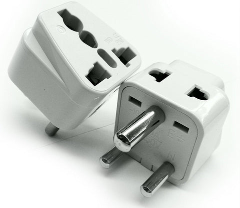 India, Sri Lanka, Ghana - Type D 2 in 1 - Travel Plug Adapter