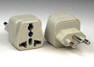 Universal Grounded Travel Plug Adapter For Brazil (Type N) - Popularelectronics.com