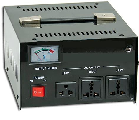 Seven Star AR-1000 1000 Watt Voltage Transformer Converter Regulator - Popularelectronics.com