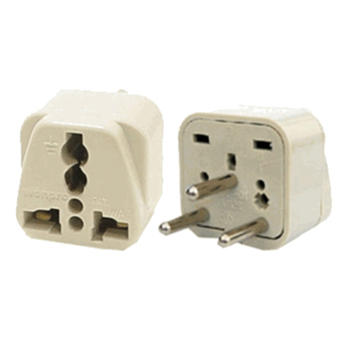 Universal Grounded Travel Plug Adapter For Israel, Palestine (Type H) - Popularelectronics.com