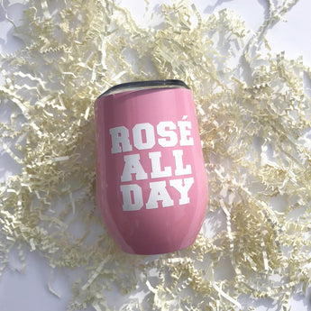 Rosé All Day Stainless Steel Pink Tumbler