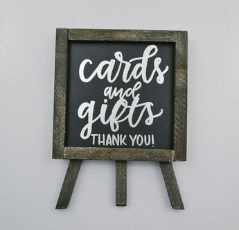 Small Cards and Gifts Chalkboard Signs