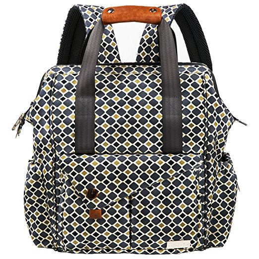 HapTim Multi-function Baby Diaper Bag Backpack with Stroller Straps, Pattern