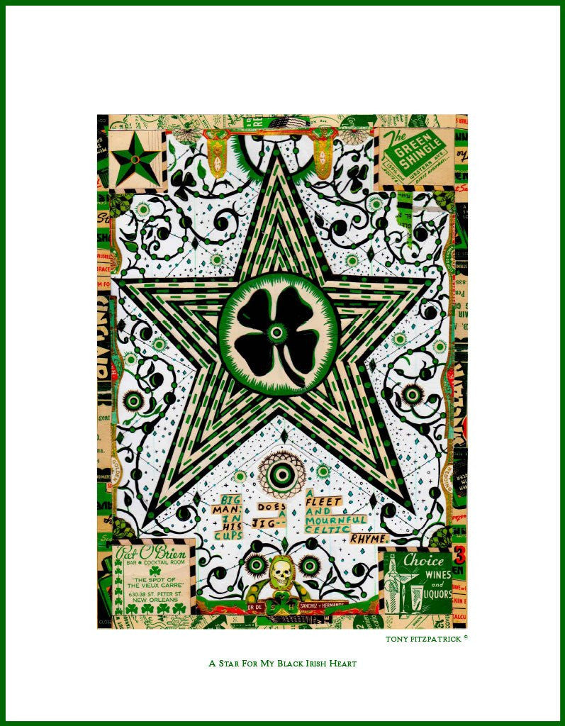 A Star for My Black Irish Heart<br> Tony Fitzpatrick Poster Signing