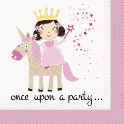 16-pink-princess-unicorn-lunch-napkins