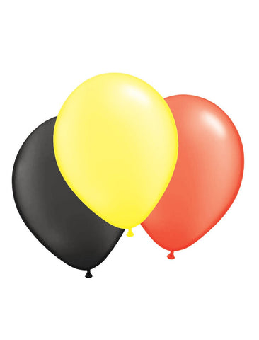 100-balloons-30cm-black-yellow-red