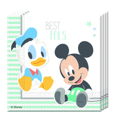 20-infant-mickey-two-ply-papir-servietter-33x33cm