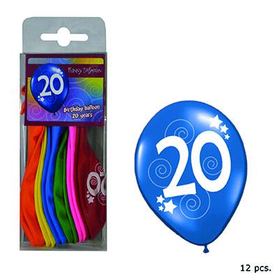 12-balloons-30cm-number-20-asst-colors