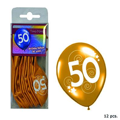 12-balloons-30cm-number-50-gold