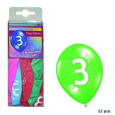 12-balloons-30cm-number-3-asst-colors