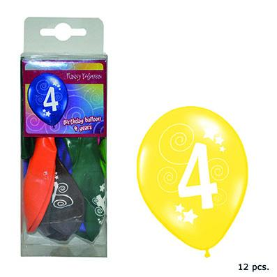 12-balloons-30cm-number-4-asst-colors