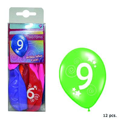 12-balloons-30cm-number-9-asst-colors