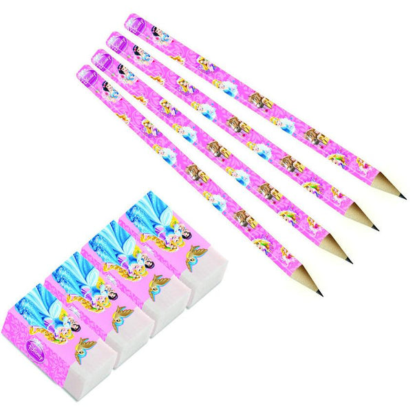 princess-&-animals-blyanter&-eraser-8pk