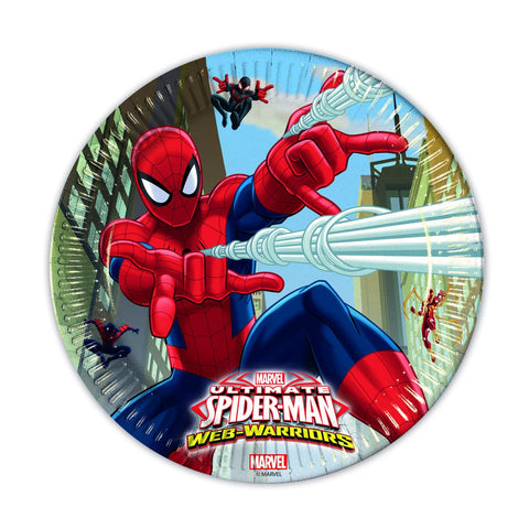 ultimate-spiderman-web-warriors-tallerkener-papp-large-23cm-8pk