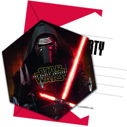 star-wars-the-force-awakens-utstanset-invitasjoner-og-konvolutter-6pk