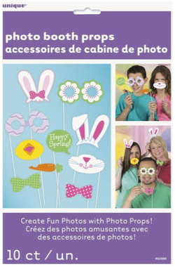 Photo Booth Props Fotoboks - Påske - 10pk