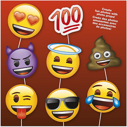 Photo Booth Props Fotoboks, Emoji - 8pk