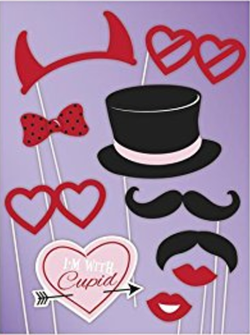 Photo Booth Props Fotoboks - Valentine's - 10pk