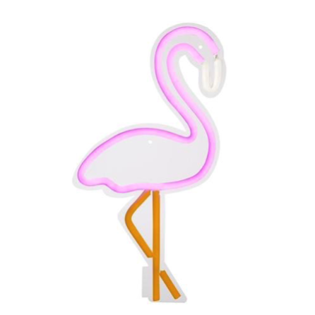 LED Lampe, Vegg Flamingo