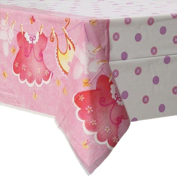 Plast Bordduk, Baby Shower Rosa - 137x214cm