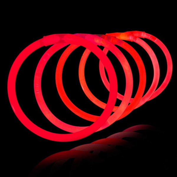 glow-stick-glowsticks-norge-party-fest-neon-100pk-rød-festogmoro.no