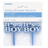 kaketopper-baby-shower-its-a-boy-pynt-blå-gutt-festogmoro.no