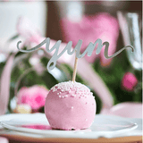 Cupcake Topper - Love, Sweet, Yum - Sølv