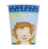 Kopper, Monkey Baby Shower - Gutt - 2,5dl - 8pk