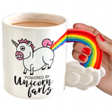 Morsom Kaffekopp - Enhjørning - powered by unicorn farts - gaver - festogmoro.no