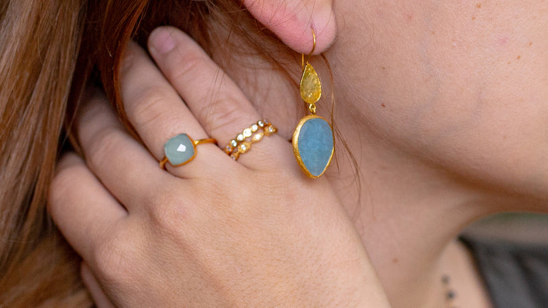 Shades of Blue and Gemstones