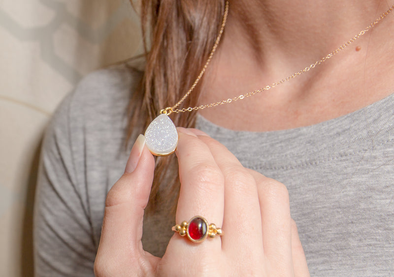 The Special Effects of Druzy Jewelry!