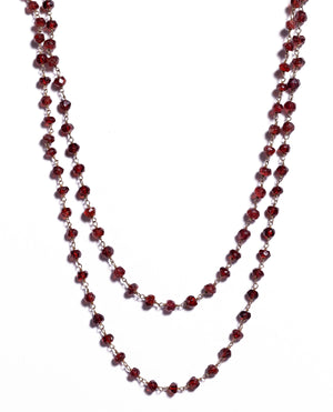 Antika - Garnet Gemstone Long