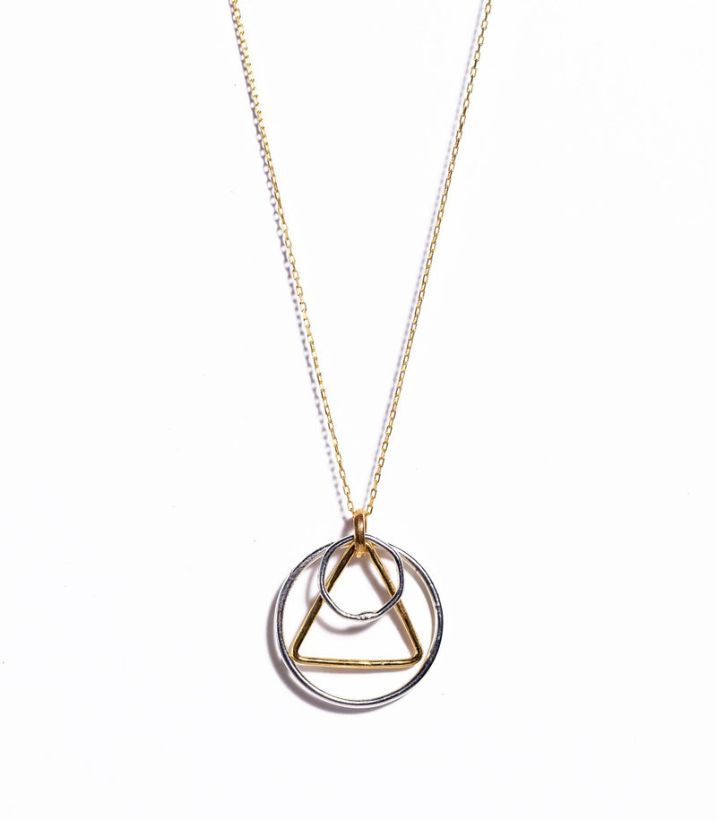 Necklace - Antika - Geo Overlapping Mixed Metal Necklace