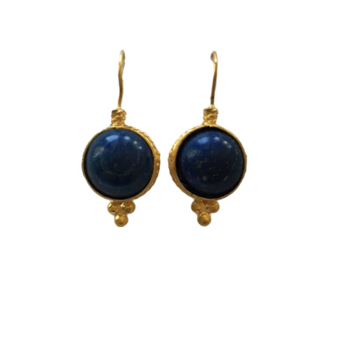 Earrings - Antika - Single Stone Medium Lapis