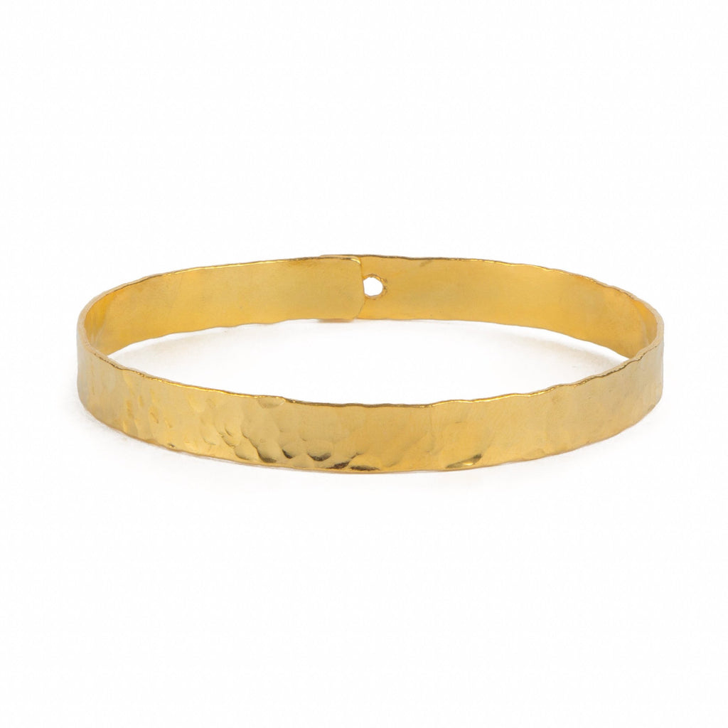 Bracelet - Antika - Thick Gold Bangle - Beksan Designs