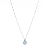 Necklace - Antika - Silver Blue Aquamarine