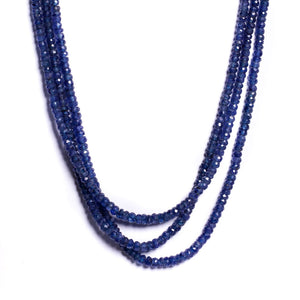 Necklace - Antika - Sapphire Bead Three Strand