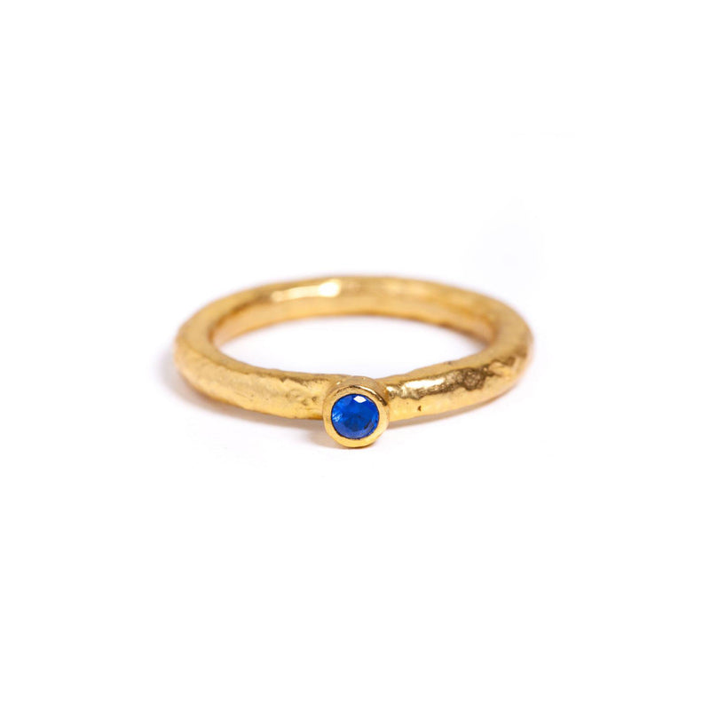 Ring - Antika - Blue Swarovski Crystal