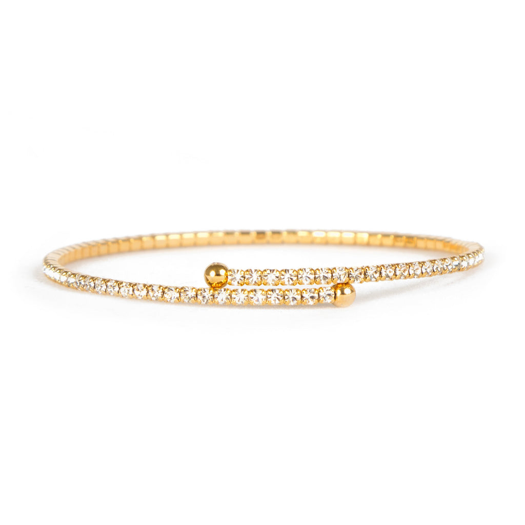 Bracelet - Crystal - Thin Inlay in Gold - Beksan Designs