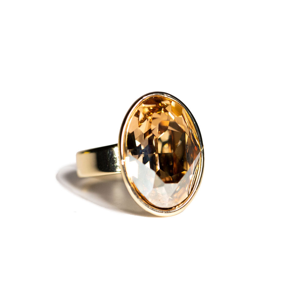 Ring - Crystal - Citrine Round